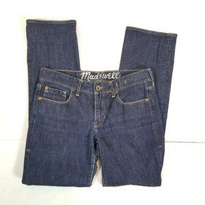Madewell Women's Rail Straight Blue Jeans  28 X 30